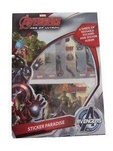 Marvel Avengers Age Of Ultron Sticker Sheets & Sticker Album Reusable Stickers