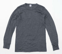 Octave Mens Size S Cotton Blend Grey Crew Neck T-Shirt