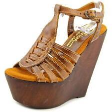 Sandalias y chanclas de mujer de tacón alto (más que 7,5 cm) de color principal beige talla 36