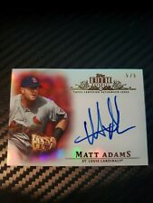 2013 Topps Tribute Matt Adams Autograph Red 5/5