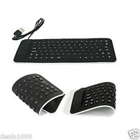 Portable USB Mini Flexible Silicone Keyboard Foldable For PC Laptop Notebook