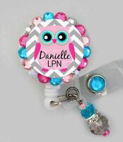 Nurse Owl Badge Reel Retractable Owl Name Medical ID Badge Holder RN Badge Gift