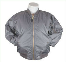 Bomber Jacket Gray Fox Outdoor Nylon Flight MA-1 Men's Grey Military 3XL NEW