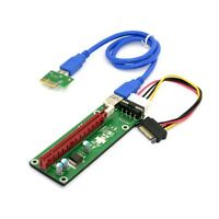 PCI-E 1x to 16x Mining Machine Enhanced Extender Riser Adapter with USB 3.0