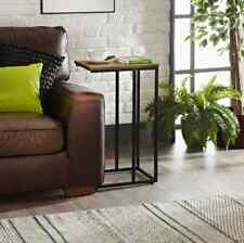 Tromso C Shaped Pattern Sofa Side End Table Coffee Laptop Table For Living Room