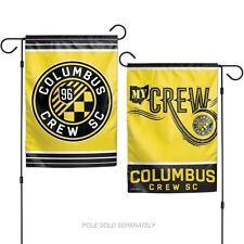 "COLUMBUS CREW MLS 2 SIDED GARDEN FLAG 12""X18"" YARD BANNER"