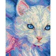 Counted Cross Stitch Kit TURKISH ANGORA Cat By:  DMC
