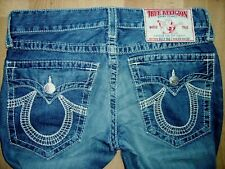 TRUE RELIGION MENS SECTION BILLY BIG T BLUE STRAIGHT JEANS W 33 IN L 33 IN