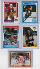 Gretzky-Lemieux-Roy-Orr & Jordan Reprint Rookie Cards Nrmt to Mint