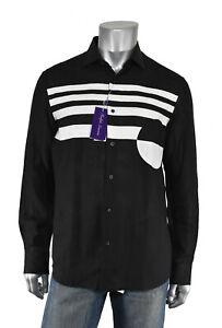 Ralph Lauren Purple Label Black Linen Dress Shirt New $695