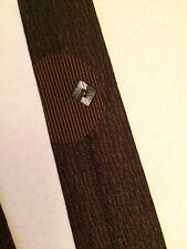Vintage 1960's Men's Neck Tie square End Necktie in brown