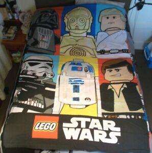 RARE 2011 Lego Star Wars Single Reversible Duvet Cover Only - 3CPO / Darth Vader