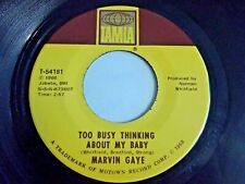 Marvin Gaye Too Busy Thinking About My Baby / Wherever I Lay 45 '66 Vinyl Record