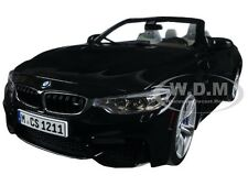 BMW M4 CABRIO BLACK 1/18 DIECAST MODEL CAR BY PARAGON 97112