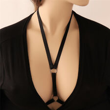 Sexy Goth Lingerie Elastic V Harness Cage Bra Cupless Bandage Body (402)