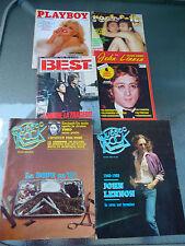 John Lennon Lot de 6 Magazines en Français (Playboy, Québec Rock,Rock & Folk.)