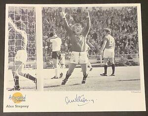 Alex Stepney Man Utd Westminster Autographed Editions Signed Photo Card