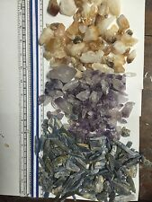 Wholesale 1lb Each Amethyst Citrine And Blue Kyanite Crystal Points