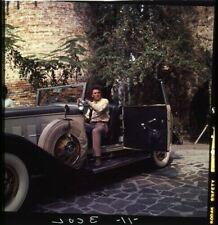 Peter Falk Photo Shoot Classique Vintage Convertible SPORTS Car Columbo Slide