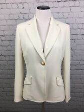 LE SUIT Career Wear White  Blazer Jacket  Gold Button Fully Lined Size 6