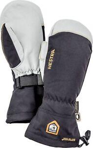 2020 Mens Hestra Army Leather Gore Tex Mitten Mitt Glove Ski Size 10 Black 31461