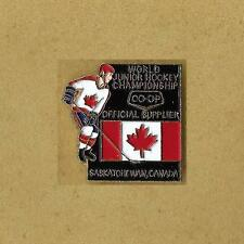 1991 World Junior Ice Hockey Championships Saskatchewan Canada Official Pin Old