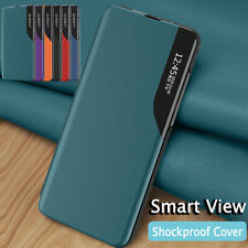 Smart View Window Case For Huawei P40 Lite E P30 Mate 20 Lite Leather Flip Cover