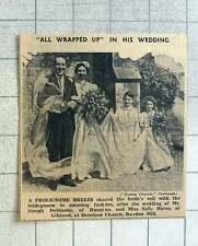 1939 Wedding Of Mr Joseph Robinson, Dunstan And Miss Sally Burns Of Gilsland
