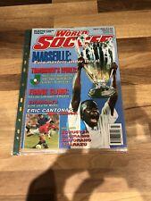 Revista de fútbol del mundo Julio de 1993 Marsella Campeones de Europa cubierta frontal