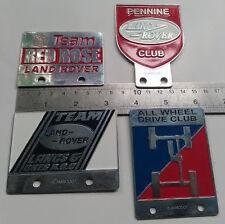 4X VINTAGE LAND ROVER badge DEFENDER FOR SALE ASSOCIATION CLASSIC series 1 2 3 a