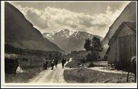 Norwegen Norge AK ~1930 Norangsdalen People Personen Norway Postcard