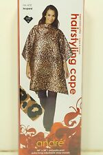 Leopard Hair Styling Cutting Cape Polysatin Extra Long Adjustable Snap SALE KT17