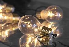 LED Lichterkette Glühbirnen 5x2 LED 6/18h Timer Batterielichterkette Tolle Optik