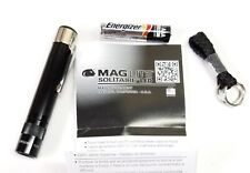 Mag-Lite Solitaire LED Flashlight Black Body Red Light AAA Battery