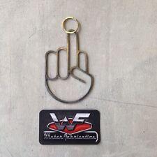 Key Chain - Middle Finger - Rear View Mirror Hanger - Metal - Steel