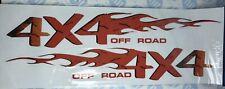 BoyzToyz RY324 2 x Car Bike Window '4X4 Off Road' Flame Novelty Decal Stickers