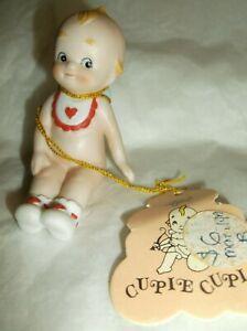 """Vintage LEFTON  porcelain KEWPIE DOLL  CUPIE CUPID  2 1/2"""" w/tag"""
