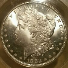 1883 P MORGAN DOLLAR GRADED MS 65 BY ANACS!!!!!VERY NICE FOR THE GRADE!!!!!
