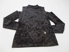 new MOSSIMO Women's Size S Classic Stretch Slim Fit Velvet Black Pullover #K1002