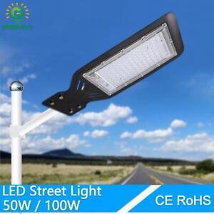 Waterproof Led Street Light Lot Yard Barn Outdoor Wall 100W Lamp Industrial