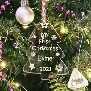 My 1st Christmas ~ Personalised Acrylic Christmas Tree Bauble Decoration