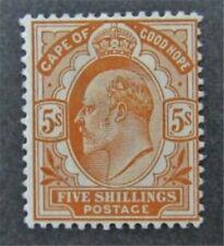 nystamps British Cape Of Good Hope Stamp # 71 Mint OG H $175