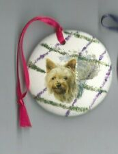 Australian Silky Terrier X1 Ceramic Hand Made Xmas Decoration -NEW- MUST L@@K!!