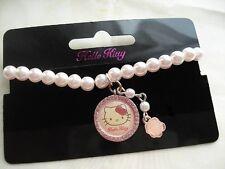 "Hello Kitty Armband ""Bracelet-Rose"" Perlen HK Anhänger Strass pink SANRIO! NEU!"