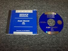 2002 Dodge Ram 1500 Truck Service Repair Manual DVD ST SLT 3.7L 4.7L 5.9L V6 V8