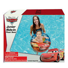 My First Ride In Baby Boy Swim Float Seat Disney Cars Mcqueen Pool Boat Ages 0-3