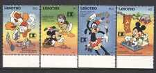 Lesotho 1992 DISNEY/Red Indian Life/Mickey 4v (s5541a)