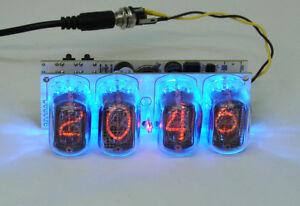 Nixie clock - in12 tube, blue backlight