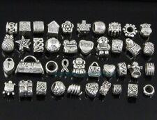 40pcs Tibetan Silver Plt Bulk Lots Beads Fit European Charm Bracelet ZY02