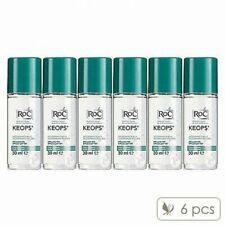Pack of 6 RoC Keops Deodorant Roll-On 30ml Underarm Bodycare Fresh #7941_6